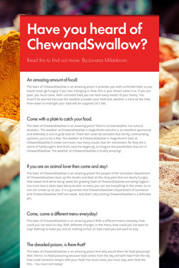 Have you heard of ChewandSwallow?