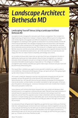 Landscape Architect Bethesda MD