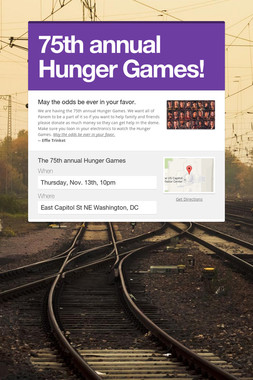 75th annual Hunger Games!