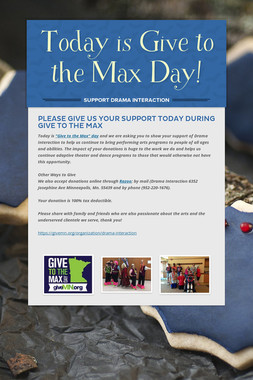 Today is Give to the Max Day!