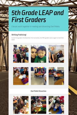 5th Grade LEAP and First Graders