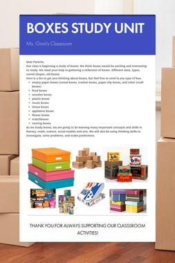 BOXES STUDY UNIT
