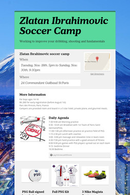 Zlatan Ibrahimovic Soccer Camp