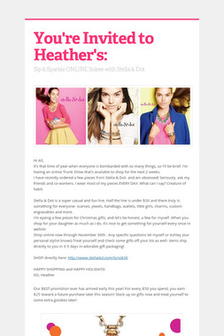 You're Invited to Heather's: