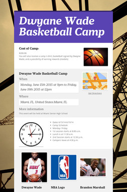 Dwyane Wade Basketball Camp