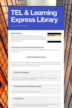 TEL & Learning Express Library