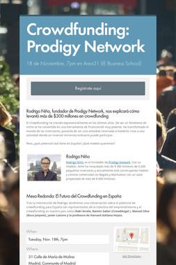 Crowdfunding: Prodigy Network