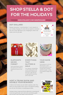 Shop Stella & Dot for the Holidays