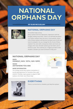 National Orphans Day