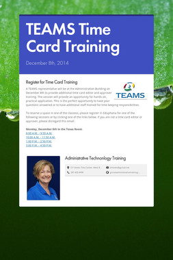 TEAMS Time Card  Training