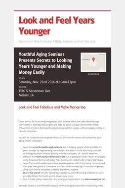Look and Feel Years Younger