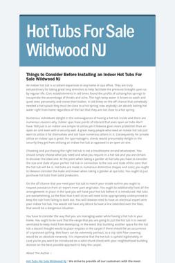Hot Tubs For Sale Wildwood NJ