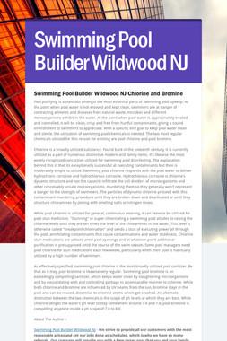Swimming Pool Builder Wildwood NJ