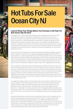Hot Tubs For Sale Ocean City NJ