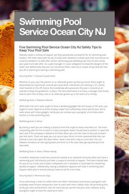 Swimming Pool Service Ocean City NJ