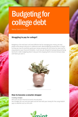 Budgeting for college debt