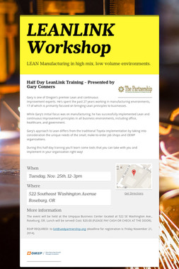 LEANLINK Workshop