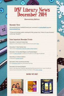D97 Library News December 2014