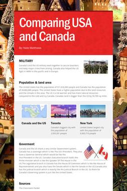 Comparing USA and Canada