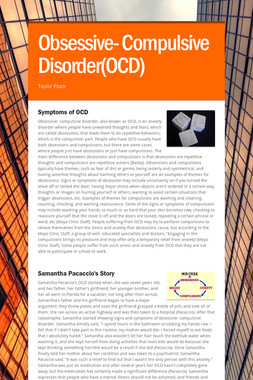 Obsessive- Compulsive Disorder(OCD)