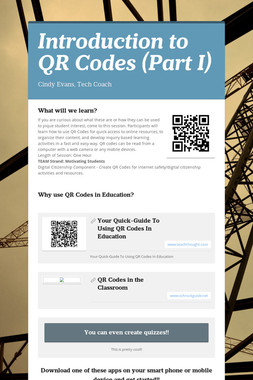 Introduction to QR Codes (Part I)
