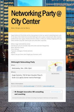 Networking Party @ City Center