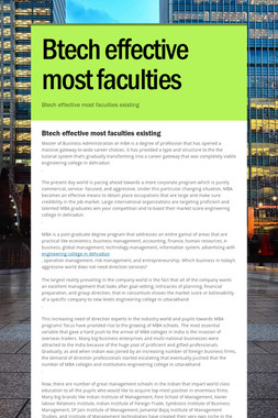 Btech effective most faculties