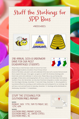 Stuff the Stockings for SPP Bees
