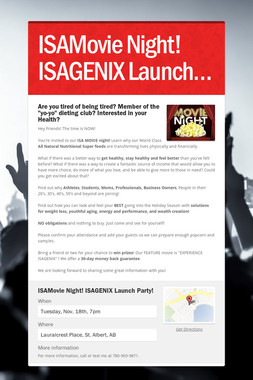 ISAMovie Night! ISAGENIX Launch…
