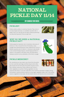 National Pickle Day 11/14