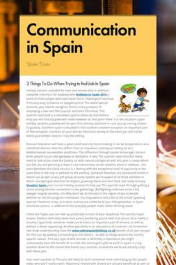 Communication in Spain