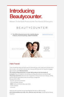Introducing Beautycounter.