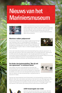 Nieuws van het Mariniersmuseum