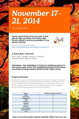 November 17-21, 2014