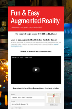 Fun & Easy Augmented Reality