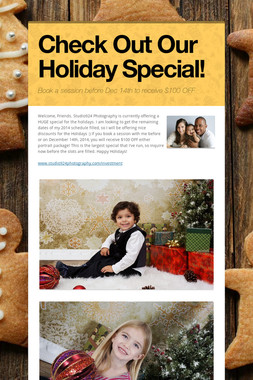 Check Out Our Holiday Special!