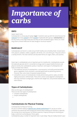 Importance of carbs