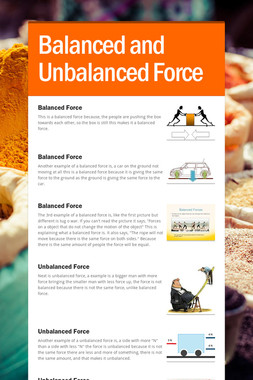 Balanced and Unbalanced Force