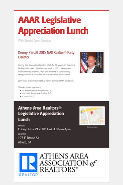 AAAR Legislative Appreciation Lunch