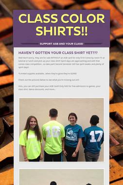 Class Color Shirts!!