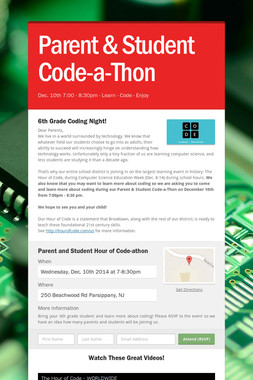 Parent & Student Code-a-Thon