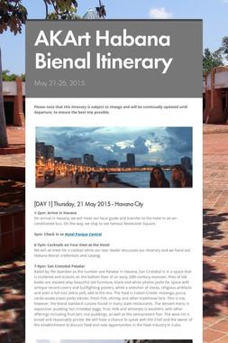 AKArt Habana Bienal Itinerary
