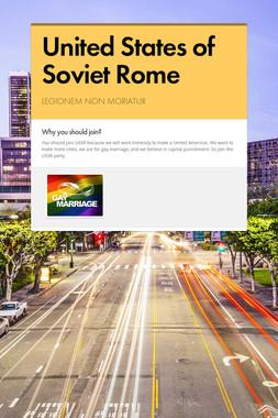 United States of Soviet Rome