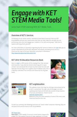 Engage with KET STEM Media Tools!