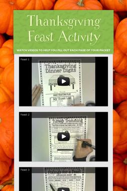 Thanksgiving Feast Activity