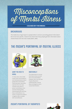 Misconceptions of Mental Illness
