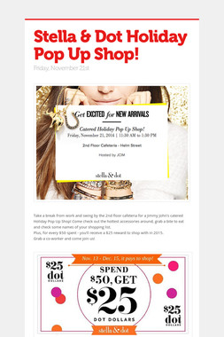 Stella & Dot Holiday Pop Up Shop!