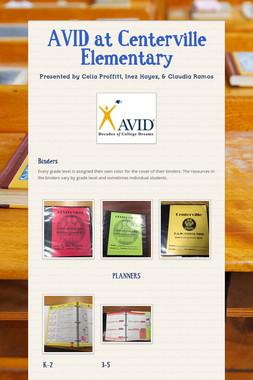 AVID at Centerville Elementary