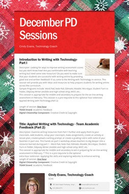December PD Sessions