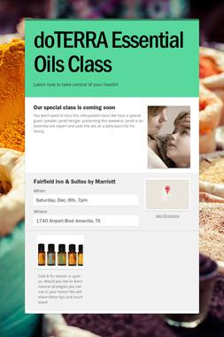 doTERRA Essential Oils Class